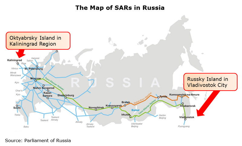 Picture: The Map of SARs in Russia