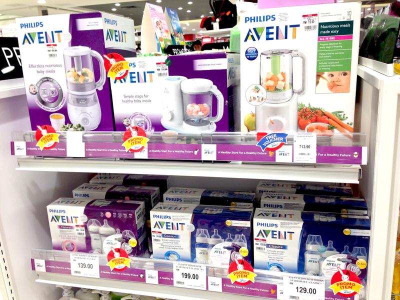 相片: 吉隆坡百貨公司的各種嬰兒用品(2)。