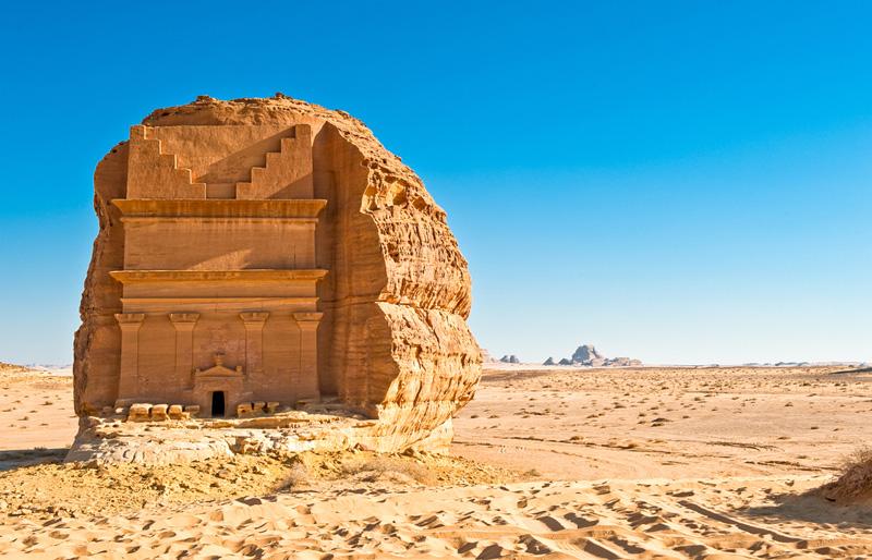 相片: 沙特阿拉伯宣傳位於歐拉(Al-Ula)的瑪甸沙勒(Madain Saleh)古城,吸引文化旅客。