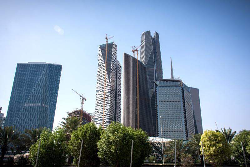 相片: 正在建設的阿卜杜拉國王金融區。