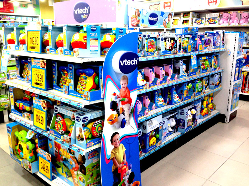 Photo: A toy specialty store and a department store selling VTech products in Malaysia. (1)