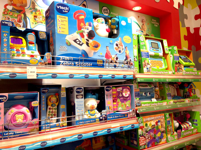Photo: A toy specialty store and a department store selling VTech products in Malaysia. (2)