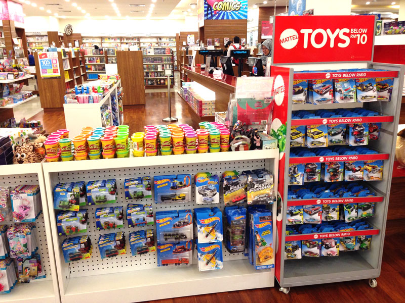 Photo: Wide selection of toys available at a bookstore in Kuala Lumpur (2).