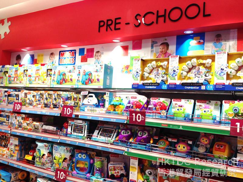 相片: 马来西亚一家百货公司展示的学前儿童玩具(1)。