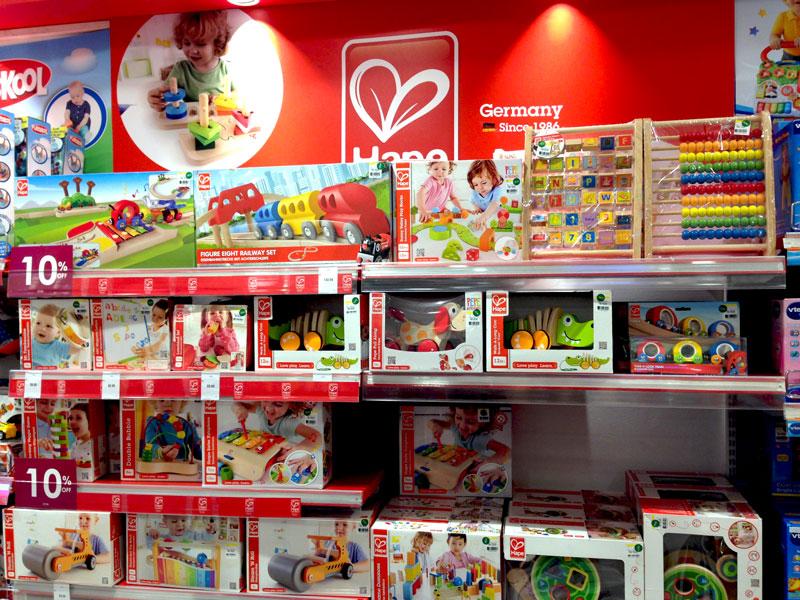 相片: 马来西亚一家百货公司展示的学前儿童玩具(2)。