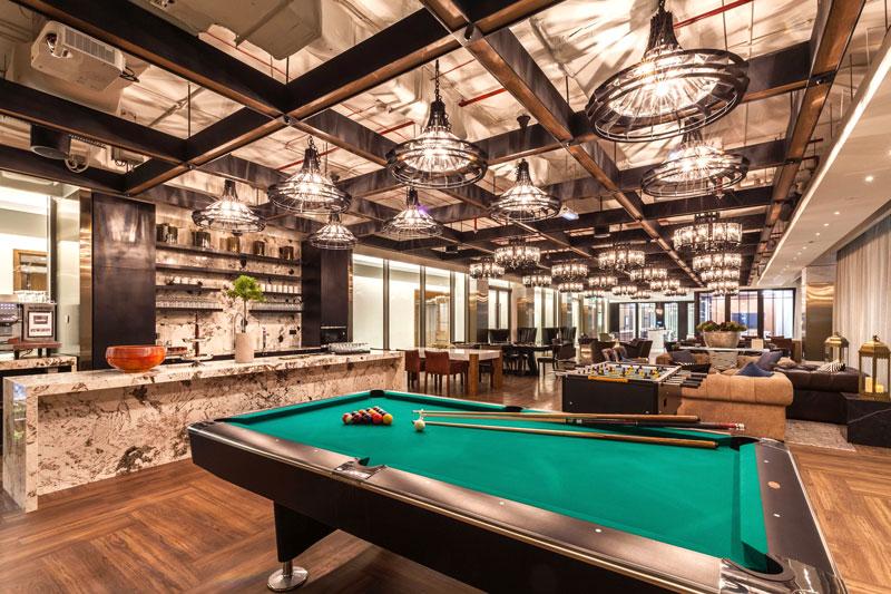 Photo: The breakout area in Dubai office.