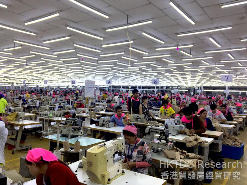Photo: A garment factory in the PPSEZ.