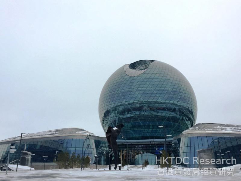 Photo: The AIFC sits in the venue of Astana Expo 2017.