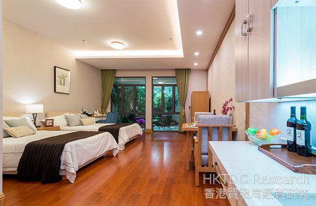 相片:泰成逸園內供長者入住的套房