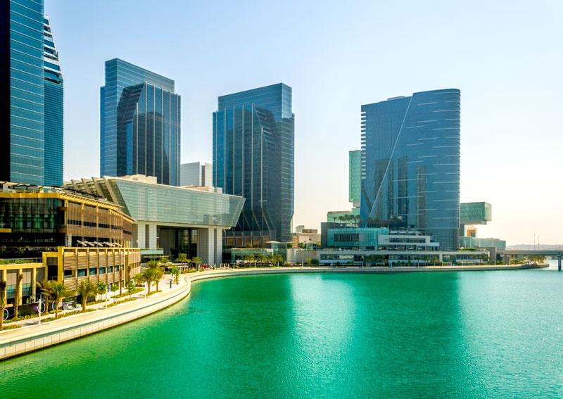 相片: 阿布扎比国际金融中心位于阿玛尔岛(Al Maryah)。