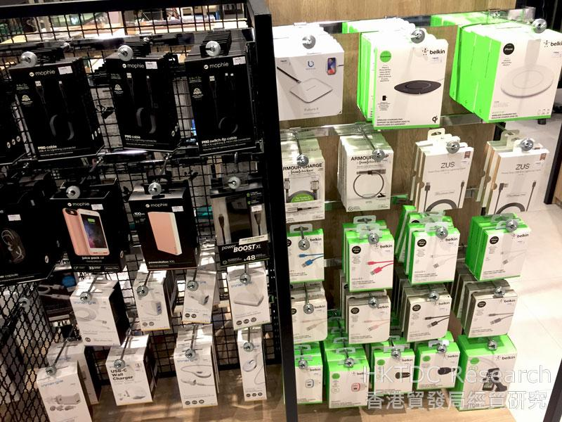 Photo: Trendy electronic accessories sold at a department store in Bangkok (1).