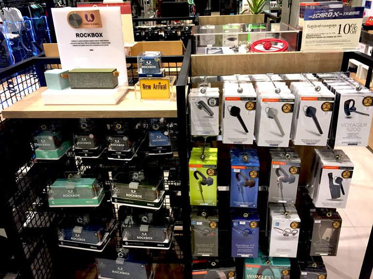 Photo: Trendy electronic accessories sold at a department store in Bangkok (2).