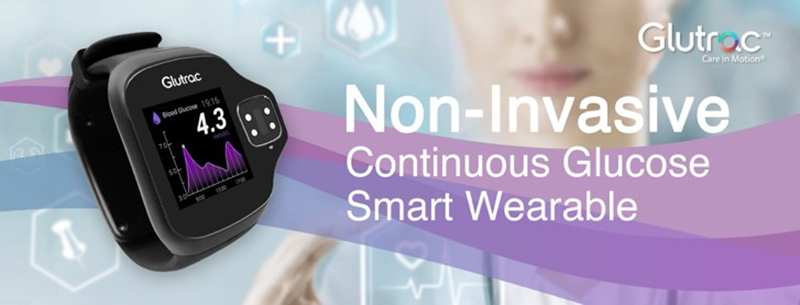 Photo: Glutrac's first-generation smart wearable for non-invasive glucose monitoring