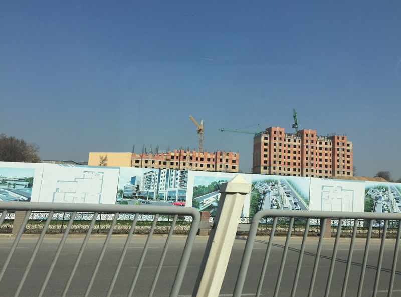 Photo: Construction site of Tashkent City.