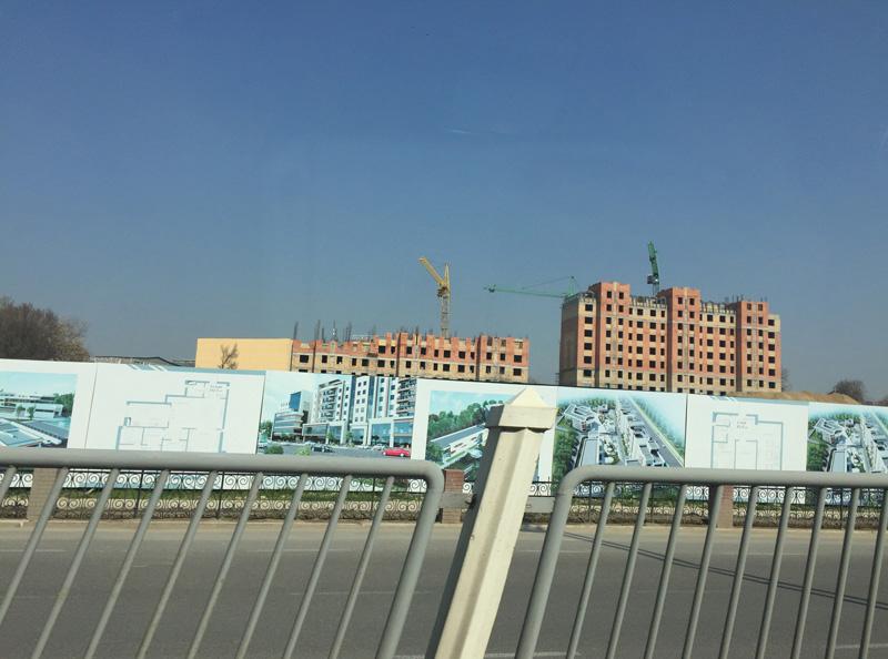 相片:塔什干城的建築工地。