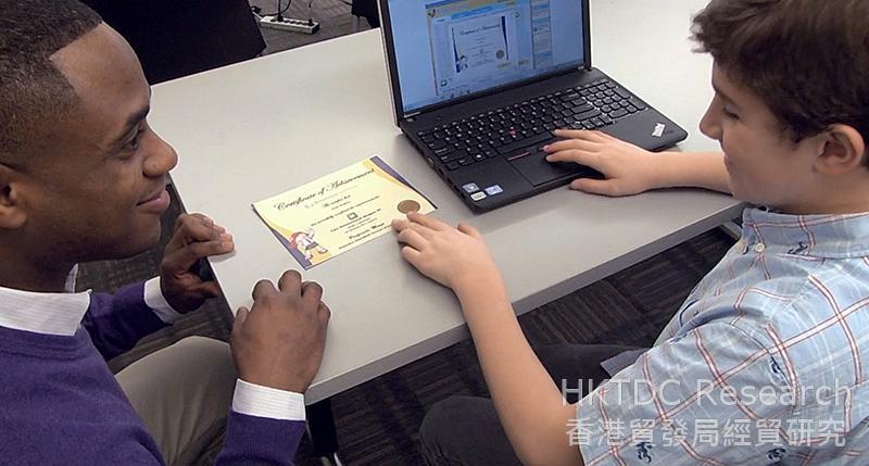 相片:PLANETii在美国教室内的应用