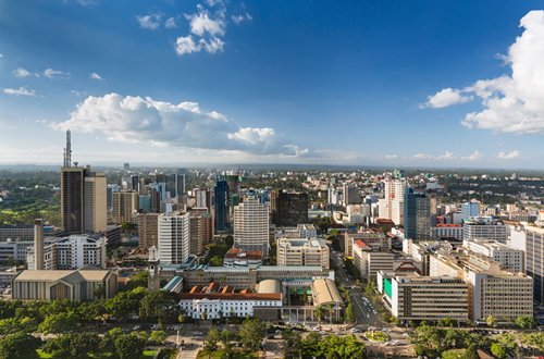 Photo: Nairobi, capital city of Kenya.