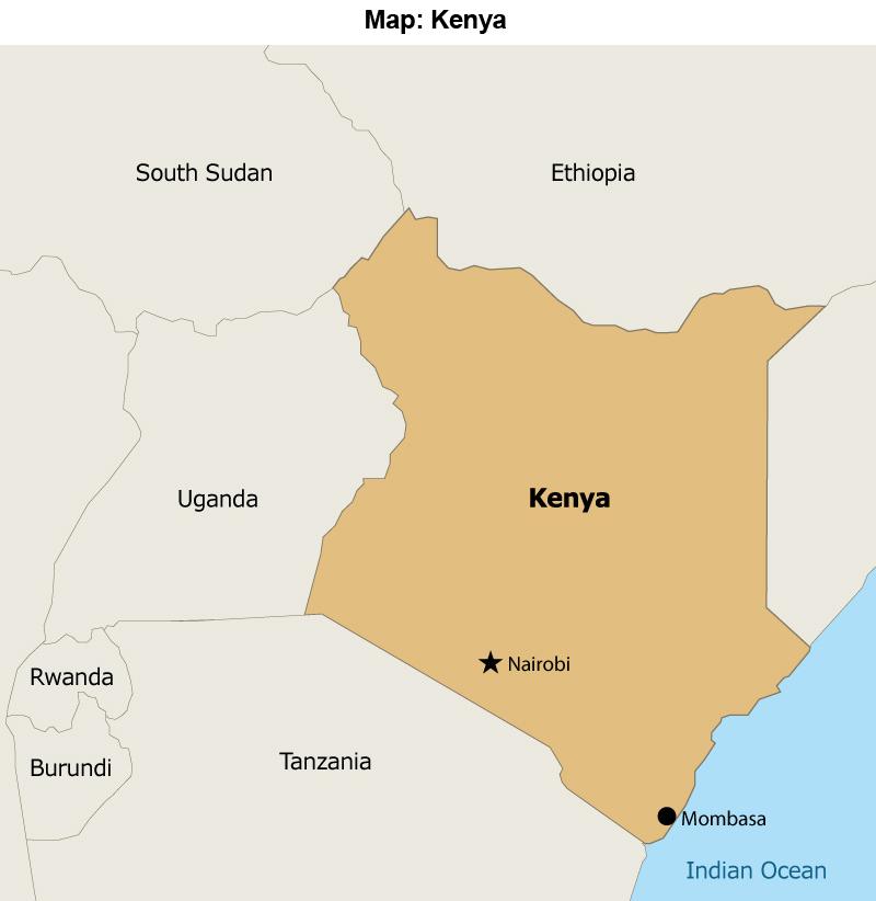 Map: Kenya