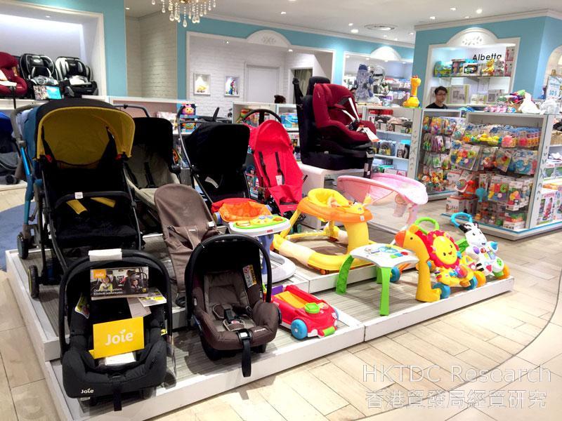 相片: 胡志明市一家百货公司内的婴儿用品。