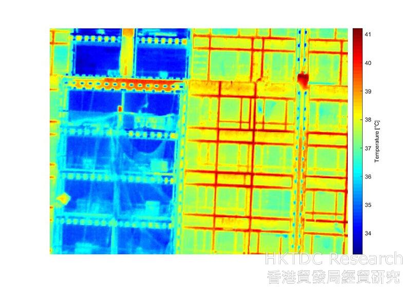 Photo: Collecting data on exterior walls by using infrared light