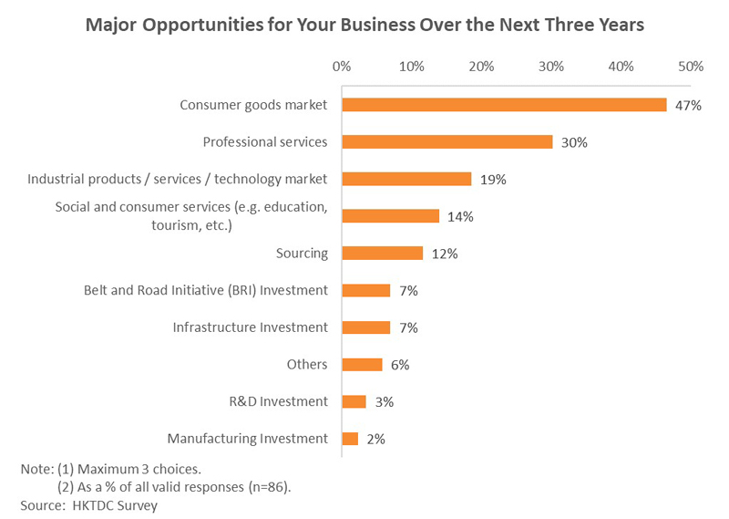 Chart: Major Opportunities for Your Business Over the Next Three Years