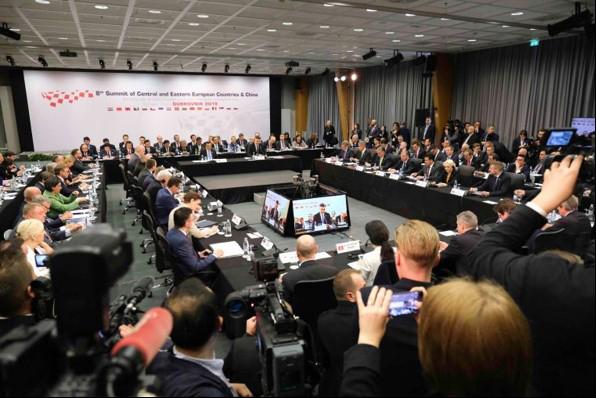 相片: 希腊总理在2019年中国–中东欧国家合作论坛上讲话