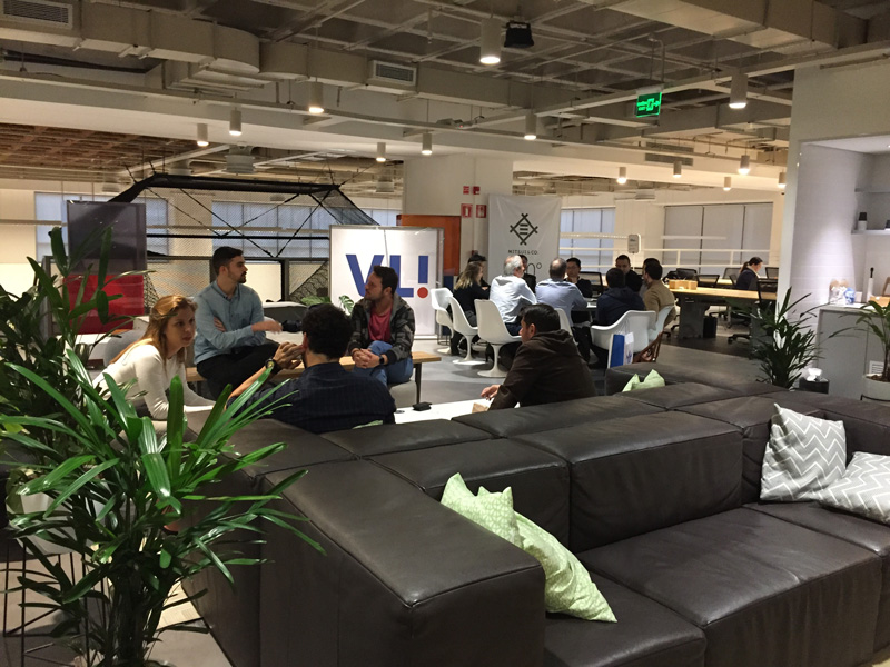 Photo: The co-working space, CUBO, established by the US-based Redpoint Ventures and Brazilian Bank.