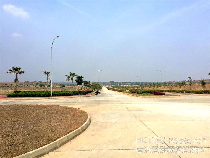 Photo: Well paved roads and greenery in Karawang New Industry City.