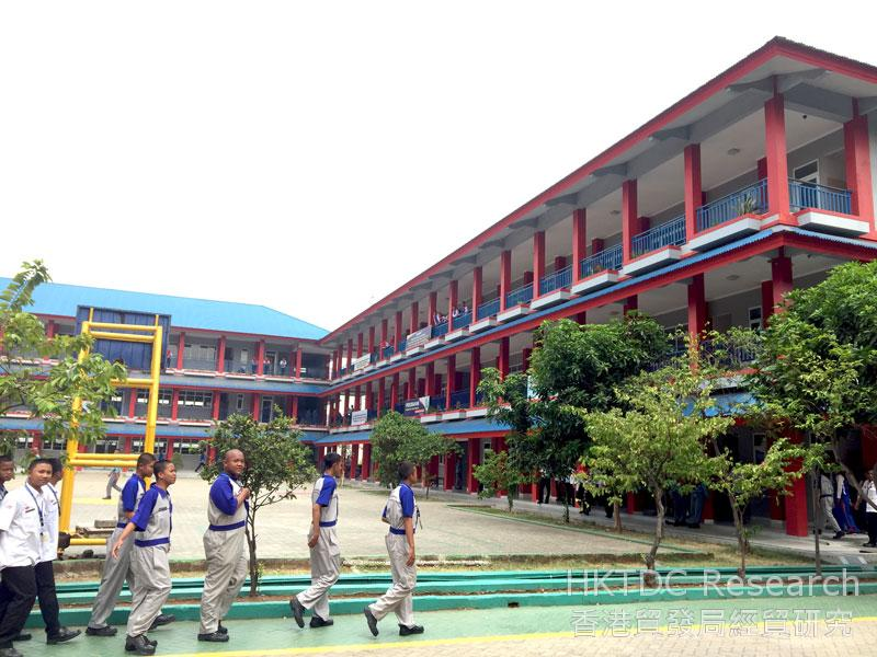 Photo: A vocational school in MM2100 Industrial Town.
