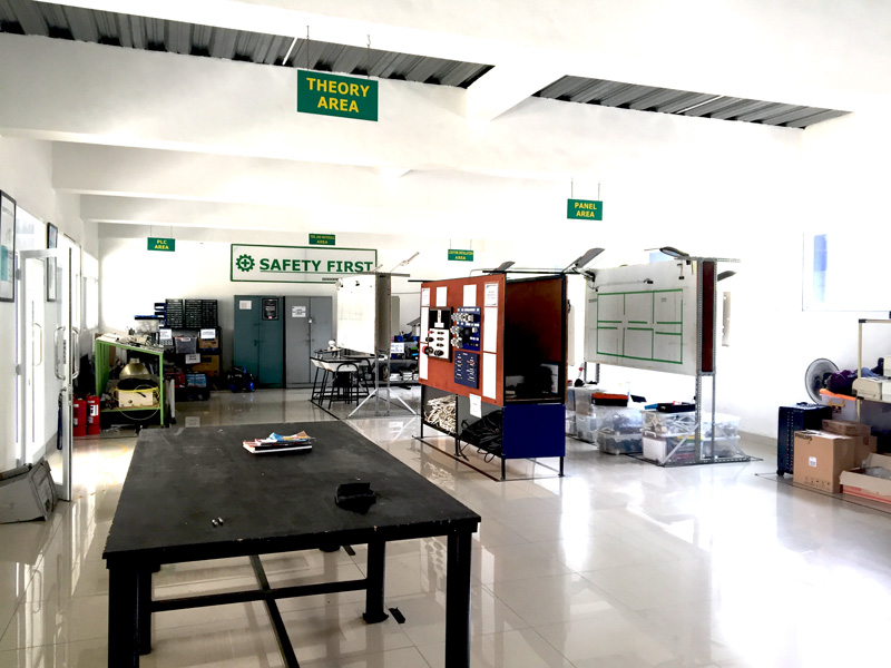 Photo: Technical training room for motorcycle production.