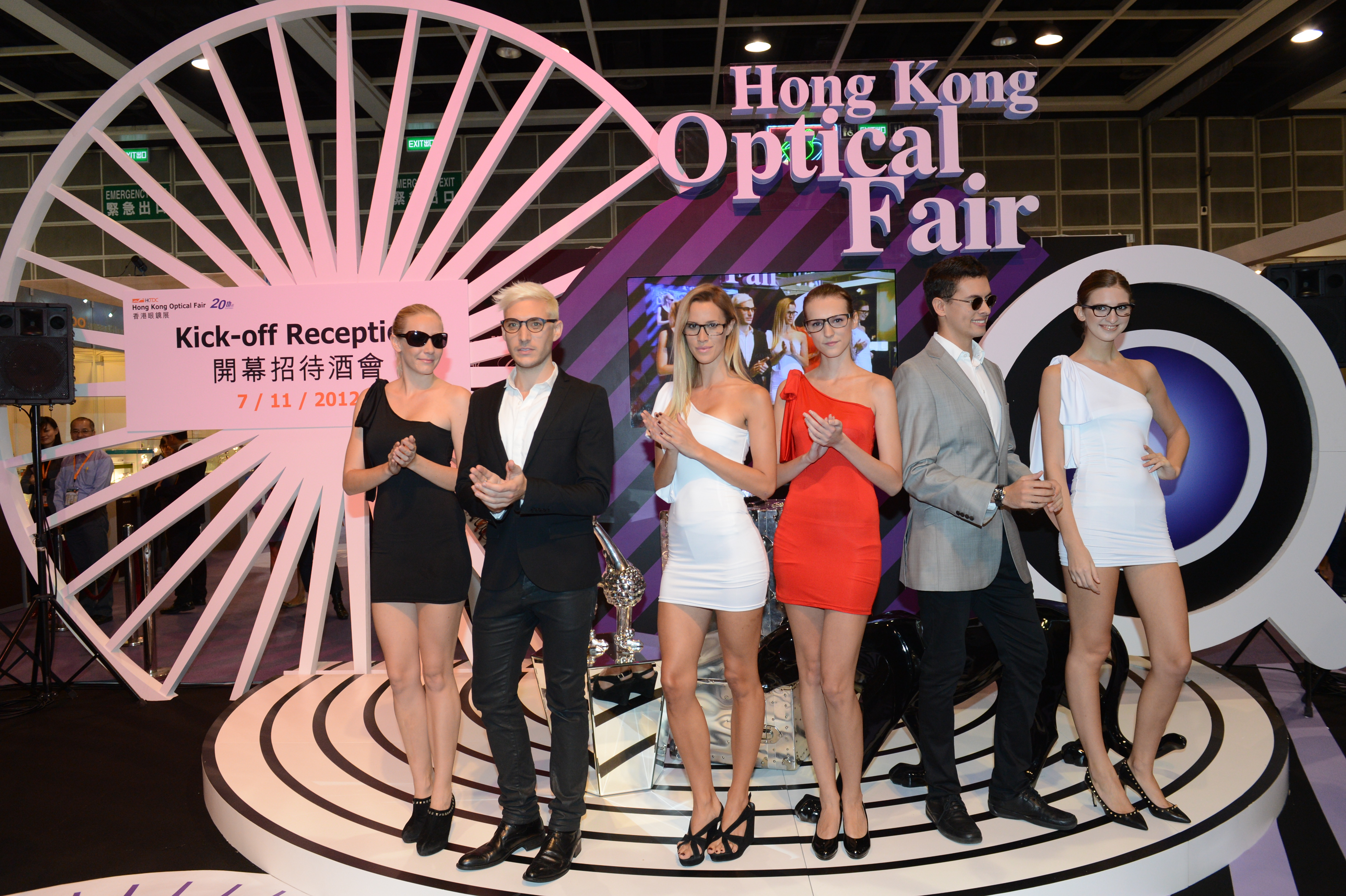 a282745d5f Models display the latest design from Brand Name Gallery at one of the  fair s eyewear parades