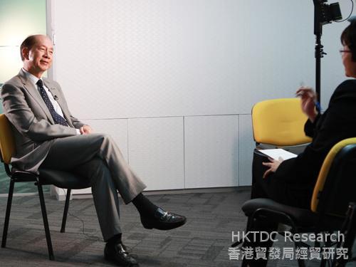 照片:劉展灝與邱麗萍對談。