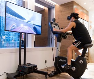 Pure Fitness Innovation Lab VR Fitness Bike