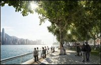 The waterfront park at West Kowloon Cultural District, the largest cultural inititiative in the worl
