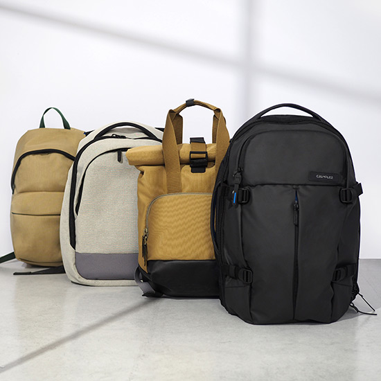 ... creating an eco-friendly, tough and stylish collection of backpacks,  messengers, cross-body bags and accessories that aimed to make carrying  conscious. c1b528f279