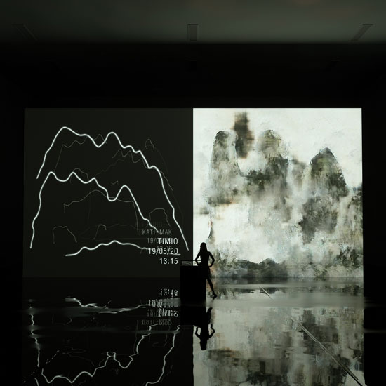 "Interactive A.I. Installation Art ""Mountain & Water"" by XRT and Square Solution Limited"