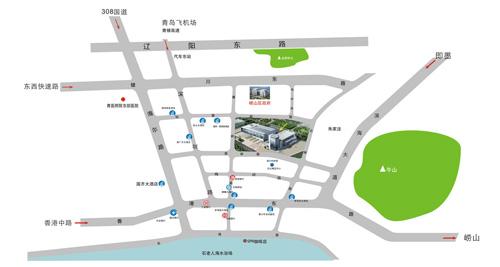 香港时尚购物展●青岛 - 展览馆位置图