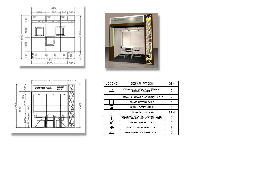 9平米展位设计图