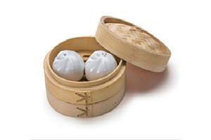 Dumpling Salt and Pepper Shakers