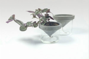 Concrete Self-Watering Planter