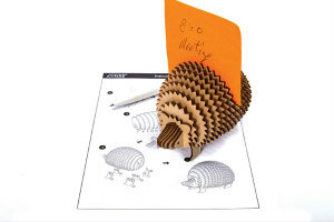 3D Plywood Puzzle - Hedgehog Memo Stand