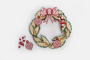 3D Plywood Puzzle - Christmas Wreath